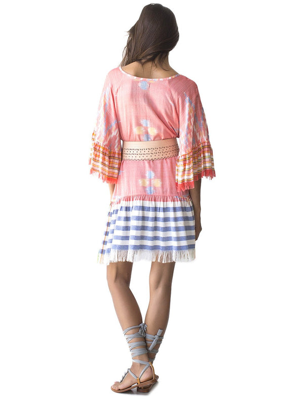 MARGARITA SHORT IKAT DRESS - Erika Peña
