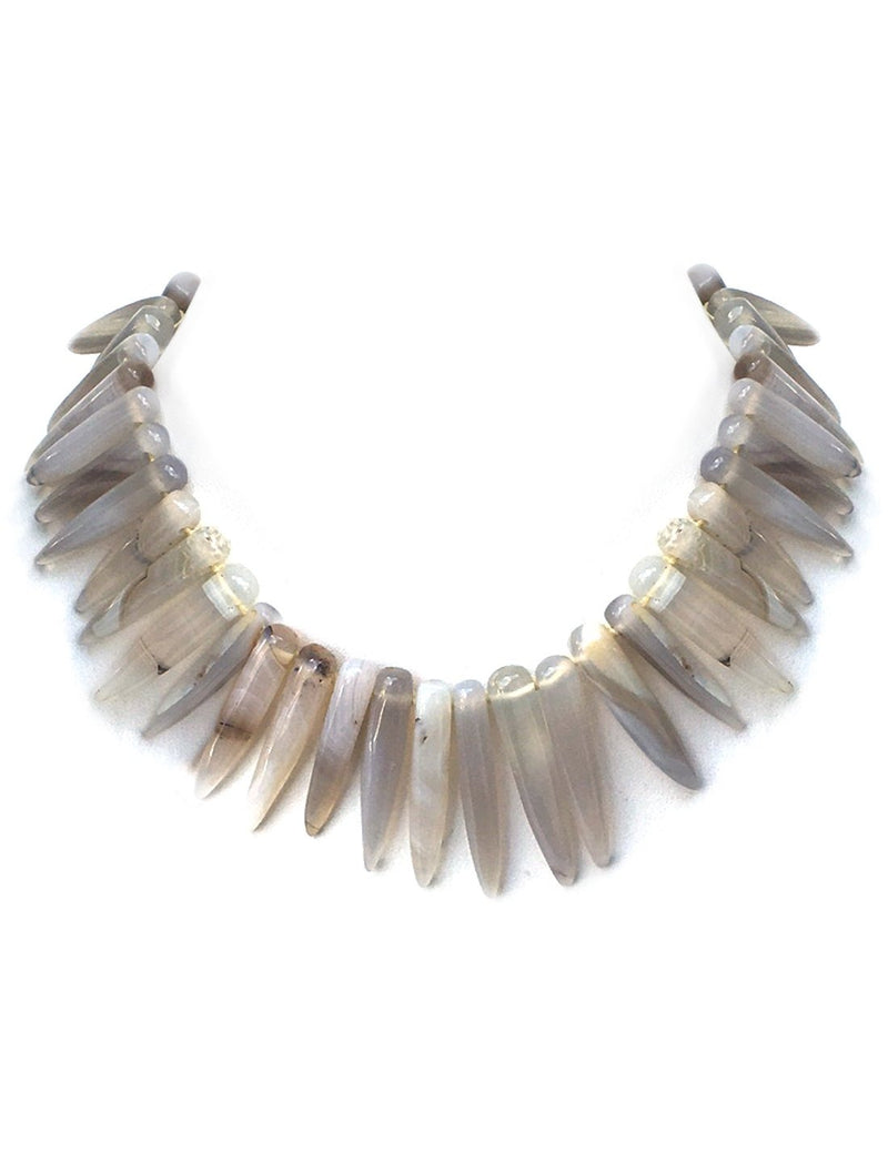 Paku Spike Stone Necklace