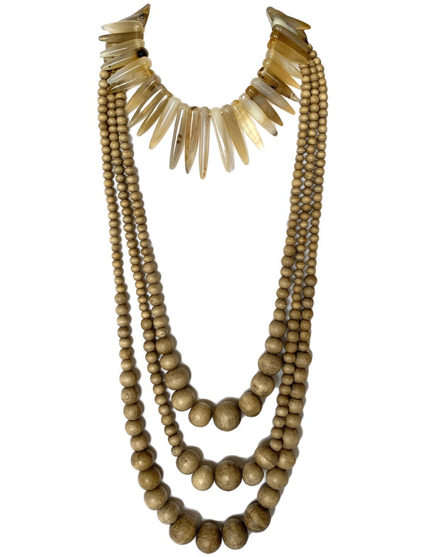 Paku Necklace with Sans Long Layered Necklace - Erika Peña