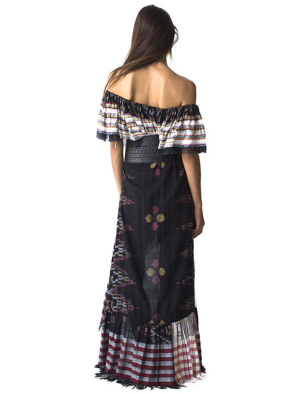 RITA IKAT FLOWING DRESS - Erika Peña