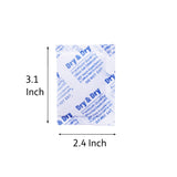 "10 Gram x 50 PK ""Dry & Dry"" Silica Gel Desiccant Packets - Rechargeable Fabric"