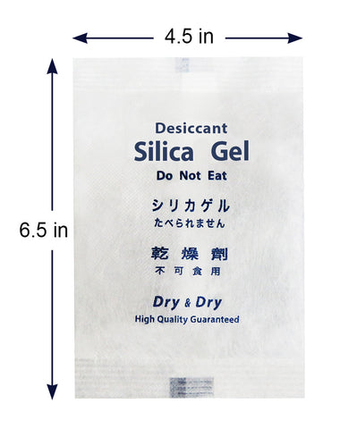 "200 Gram [100 Packets]  ""Dry & Dry"" Premium Silica Gel Desiccant Packets - Rechargeable Fabric"