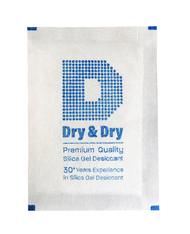 "20 Gram Pack of 1000 ""Dry&Dry"" Silica Gel Packets Desiccant Dehumidifiers"