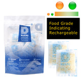 "10 Gram [10 Packs] ""Dry & Dry"" Food Safe Orange Indicating (Orange to Dark Green) Mixed Silica Gel Packets - FDA Compliant"