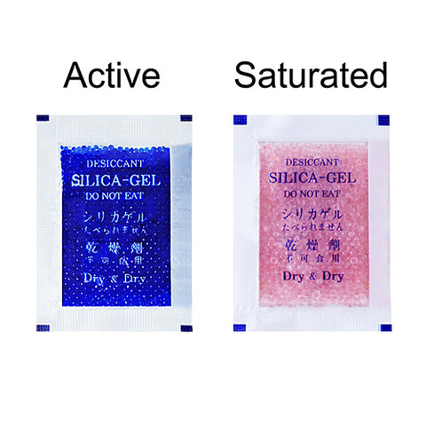 10 Gram Blue Indicating Clear Plastic(PET) Silica Gel Packets - Choose Size & Quantity