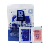 "[50 Packs] 5 Gram"" Dry & Dry"" Premium Blue Indicating Silica Gel Pack - Reusable"