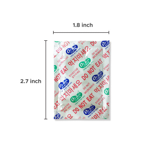 Fresh & Fresh (105 Packs) 500 CC Premium Oxygen Absorbers(1 Bag of 105 Packets) - ISO 9001 Certified Facility Manufactured.