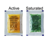 "10 Gram [35 Packs]  Orange ""Dry & Dry"" Premium Indicating(Orange to Dark Green) Silica Gel Packets - RECHARGEABLE"