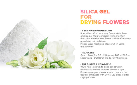 Dry & Dry Premium Silica Gel for Flower Drying Desiccant - (Net 44 LBS)