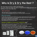 "2 Gallon(14-15 LBS) ""Dry & Dry"" Premium Orange & White Mixed Indicating Silica Gel Desiccant Beads(Industry Standard 2-4 mm) - Rechargeable"