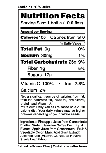 Fruit Juice Nutrition Facts
