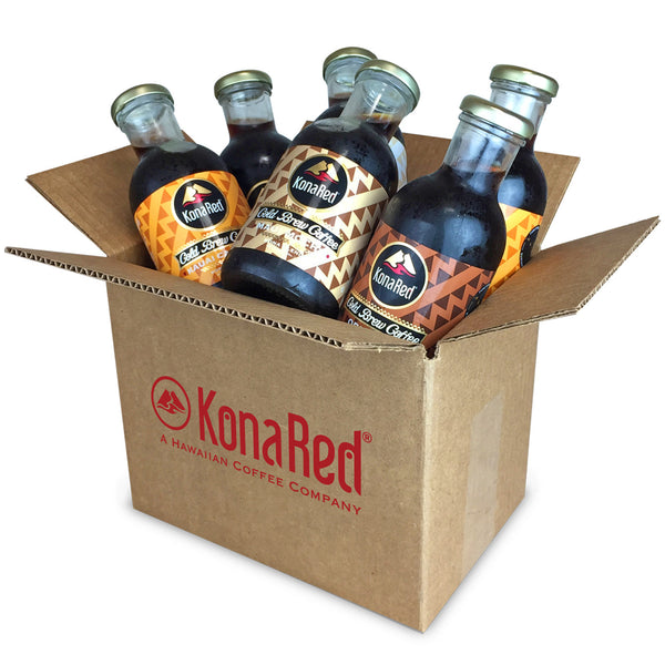 KonaRed® Cold Brew Coffee Mixed Case(6-12oz Bottles) - KonaRed.com