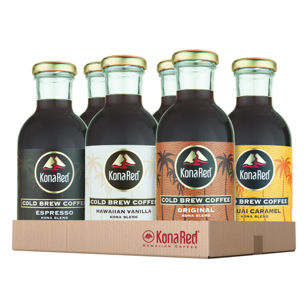 Cold Brew Coffee Mixed Case (12oz Bottles) - KonaRed.com