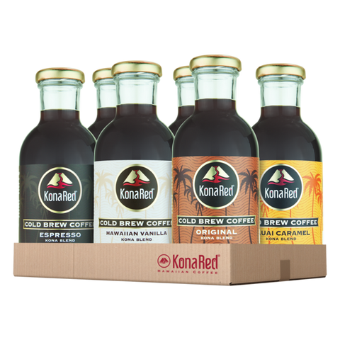 Cold Brew Coffee Mixed Case (6-12oz Bottles) - KonaRed.com