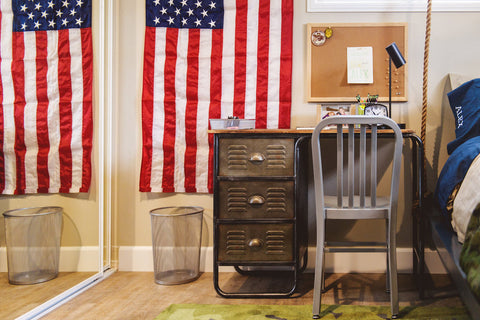 AirFort Camo USA America Childhood Cancer Military Room Reveal Savvy Giving by Design