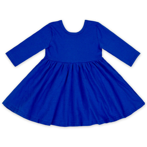 Cobalt Twirl Dress