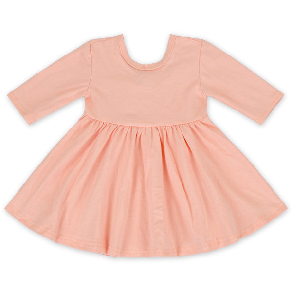 Peach Twirl Dress