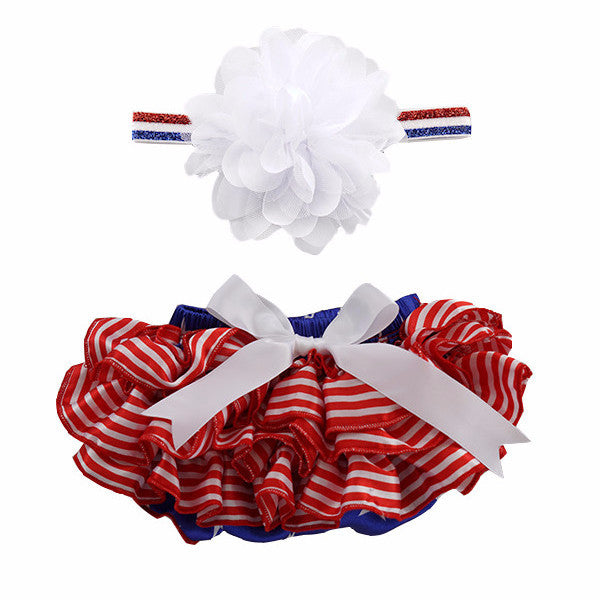4th of July Satin Tutu Bloomer & Headband Set