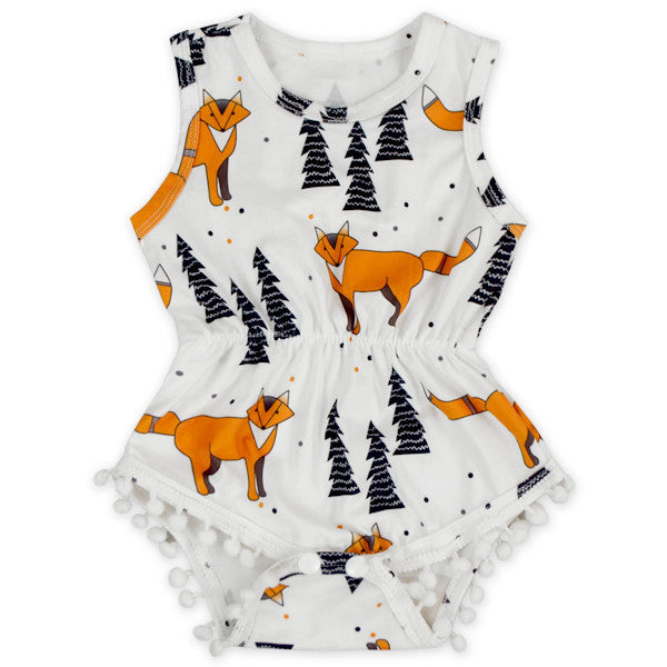 Fox Wilderness Pom Pom Romper
