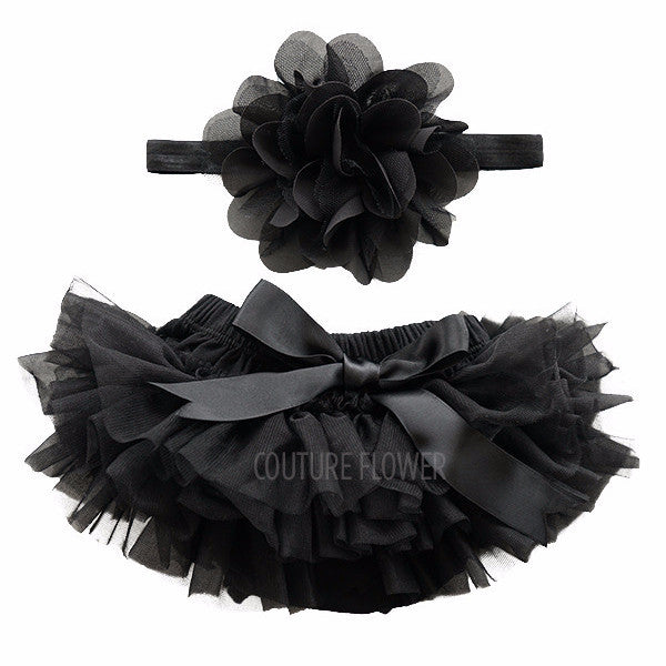 Black Tutu Bloomer & Headband Set
