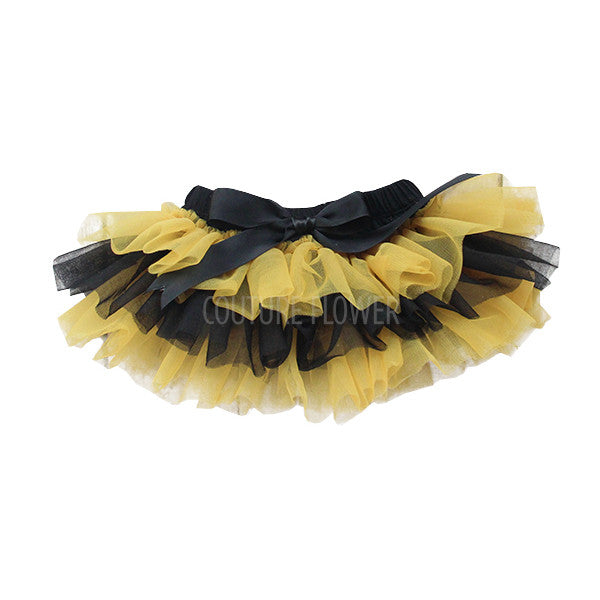 Team Colors Black and Gold Tutu Bloomer