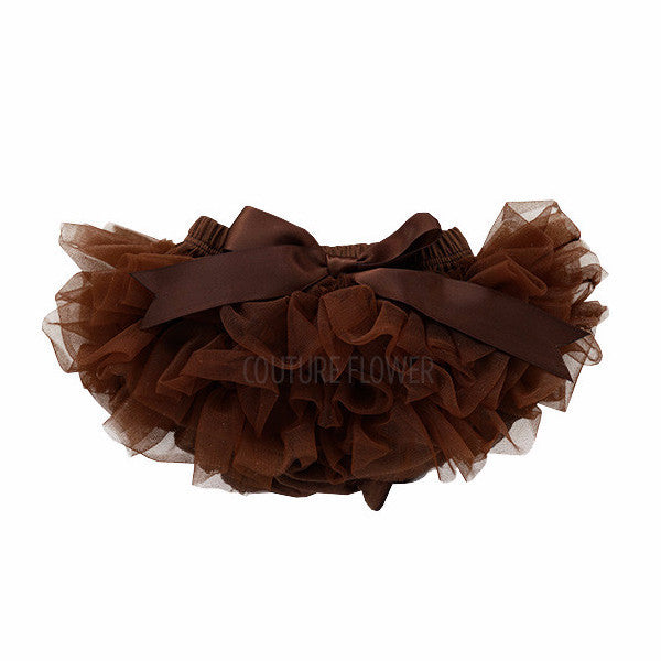 Brown Ruffle Tutu Bloomer