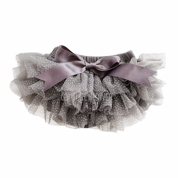 Charcoal and Silver Glitter Ruffle Tutu Bloomer