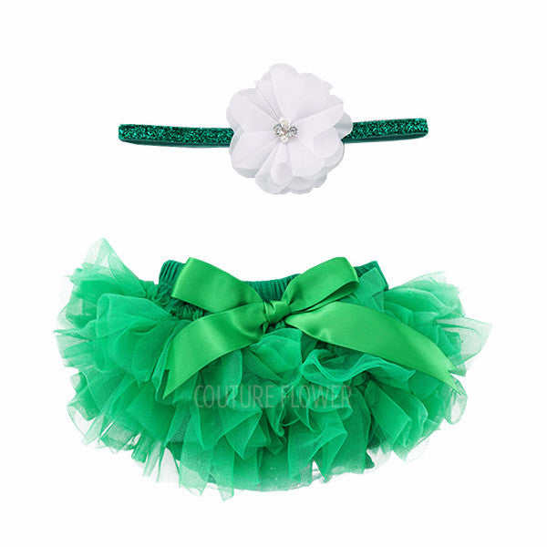Emerald Green Tutu Bloomer & Headband Set