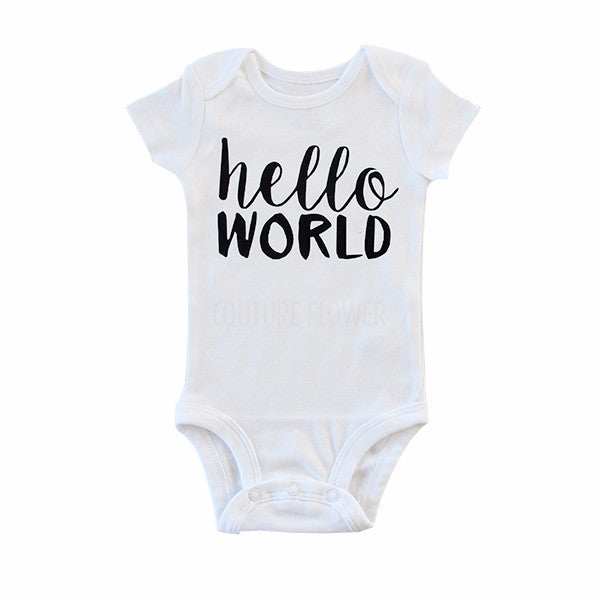 "Black ""hello world"" Bodysuit"