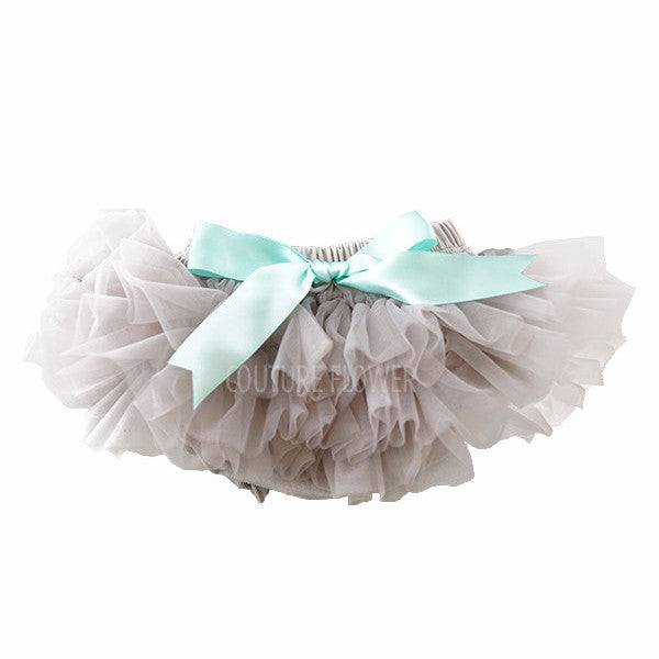 Gray and Aqua Ruffle Tutu Bloomer