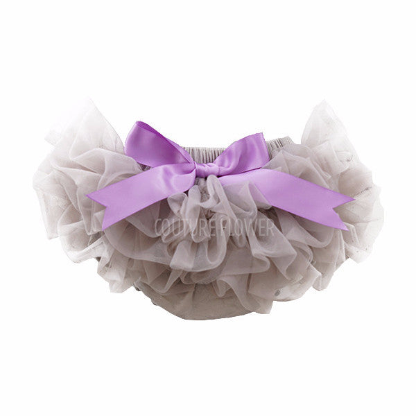 Gray and Lavender Ruffle Tutu Bloomer