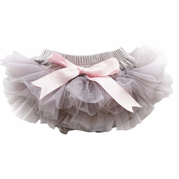 Gray and Pink Ruffle Tutu Bloomer