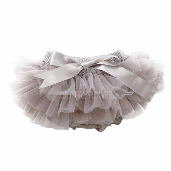 Gray Ruffle Tutu Bloomer