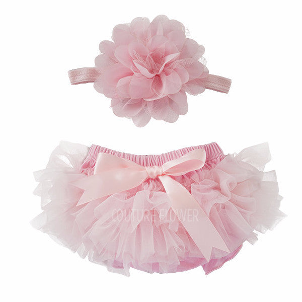 Light Pink Tutu Bloomer & Headband Set