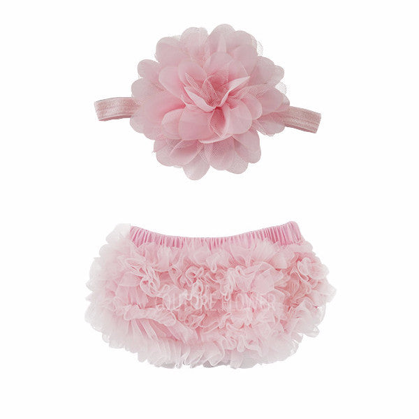 Light Pink Ruffle Bottom Bloomer & Headband Set