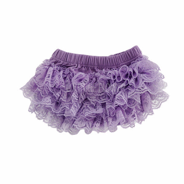 Lavender Lace Ruffle Bottom Bloomer