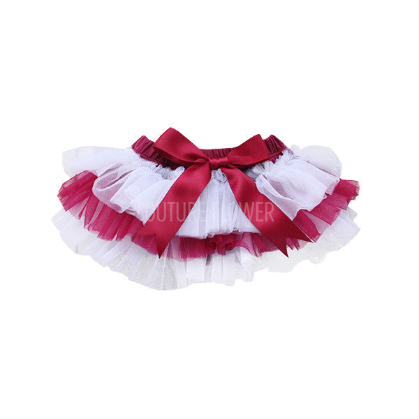 Team Colors Maroon and White Tutu Bloomer