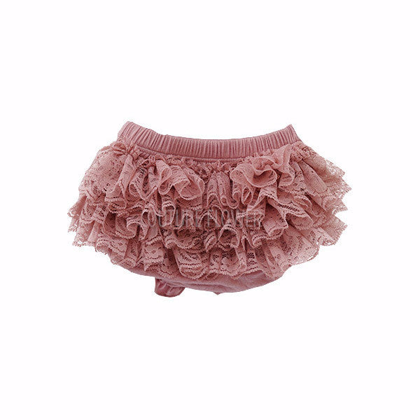 Mauve Lace Ruffle Bottom Bloomer