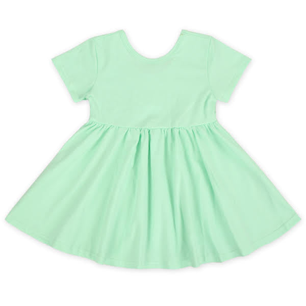 Short Sleeve Mint Twirl Dress
