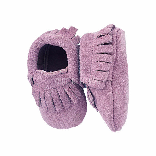Light Purple Suede Baby Moccasins