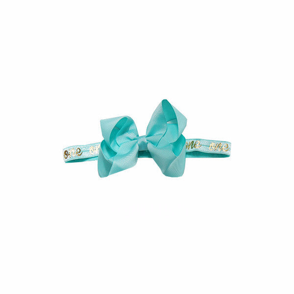 """One"" Bow Headband"