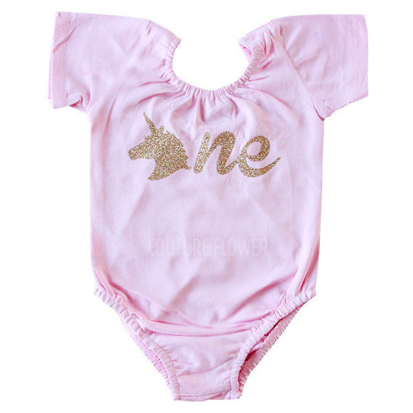 "Pink Unicorn ""one"" Leotard"