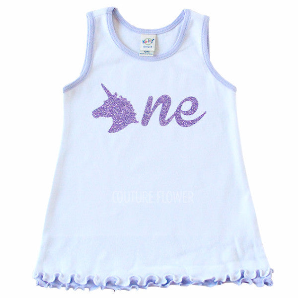 "Lavender Unicorn ""one"" Dress"