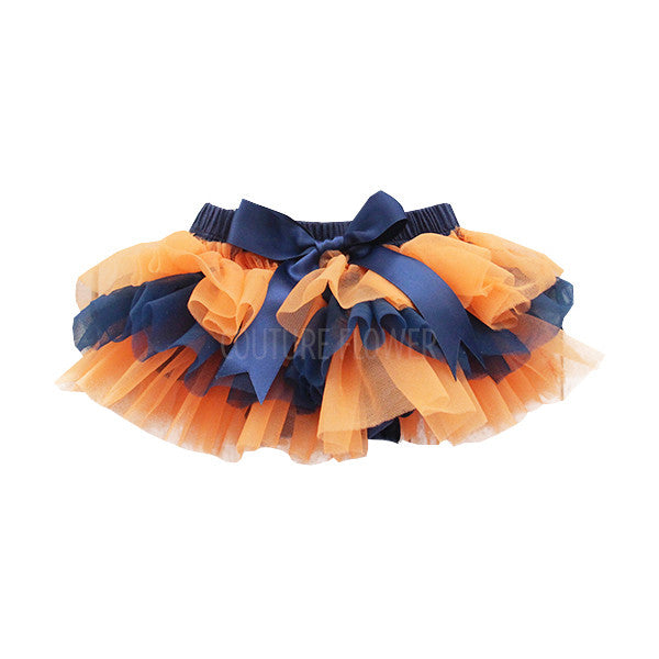 Team Colors Navy and Orange Tutu Bloomer