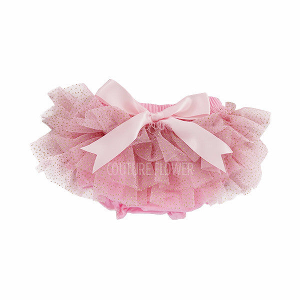 Pink and Gold Glitter Ruffle Tutu Bloomer