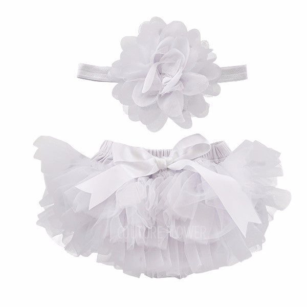 White Tutu Bloomer & Headband Set