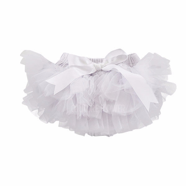 White Ruffle Tutu Bloomer
