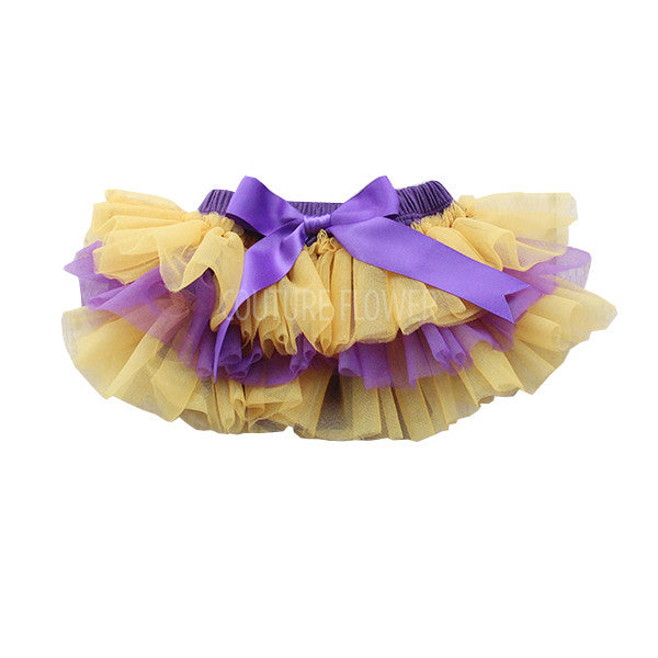 Team Colors Purple and Gold Tutu Bloomer