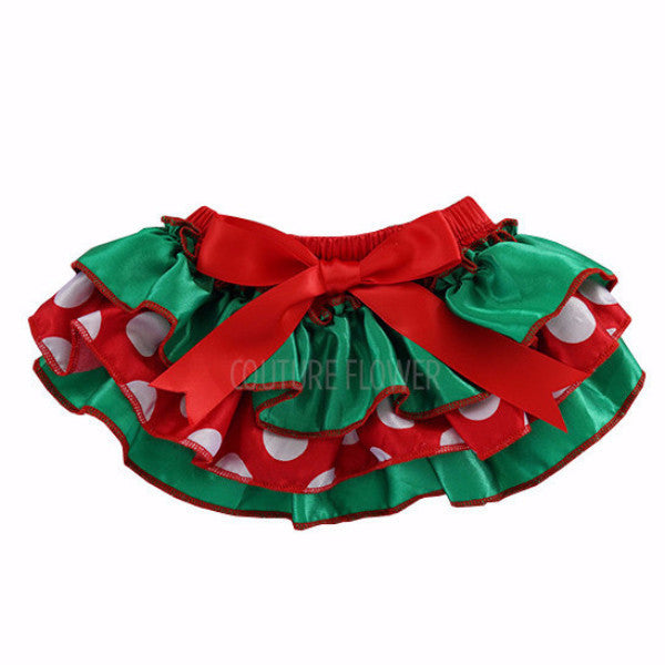 Christmas Satin Ruffle Tutu Bloomer