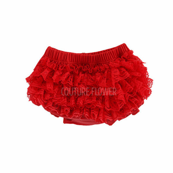 Red Lace Ruffle Bottom Bloomer
